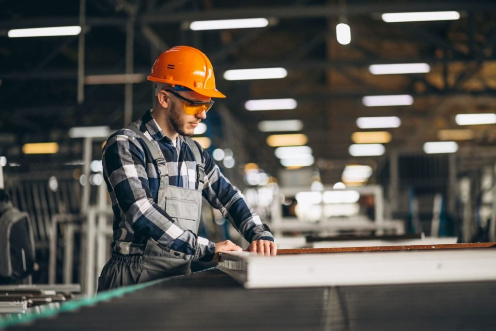 Male worker at a factory